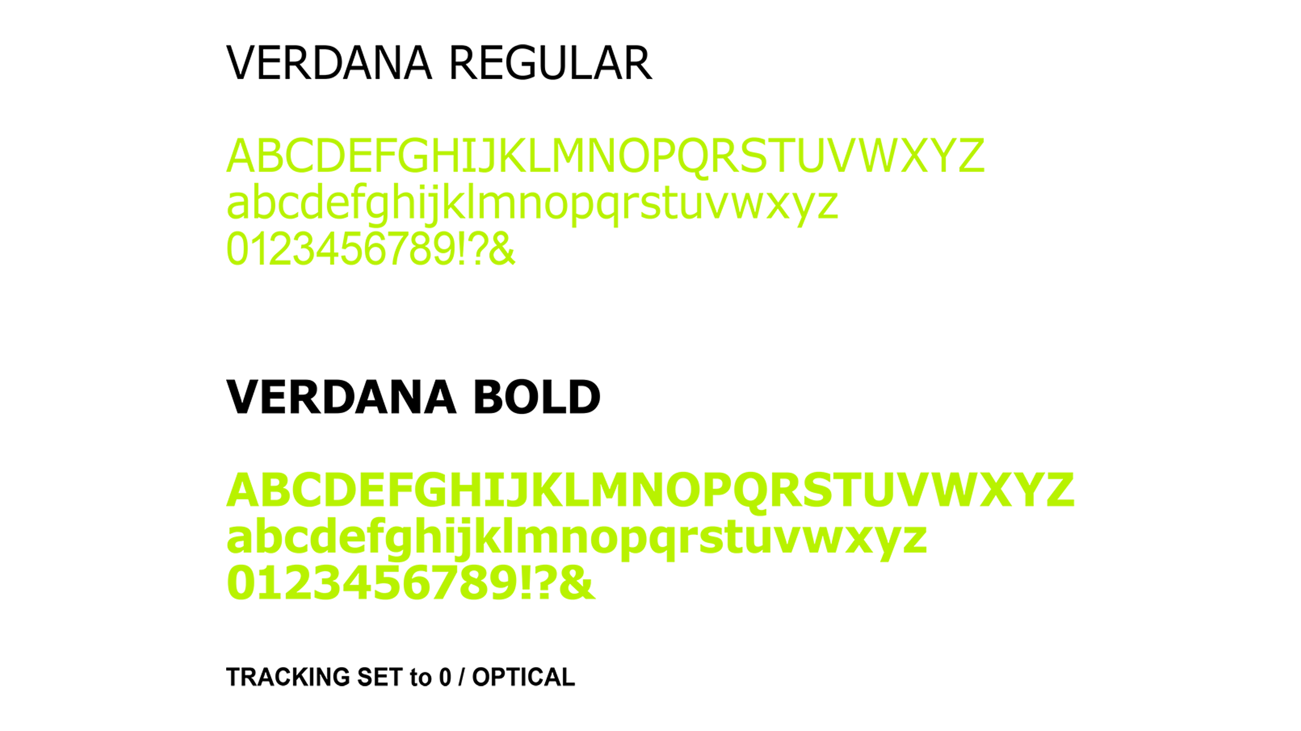 System font example