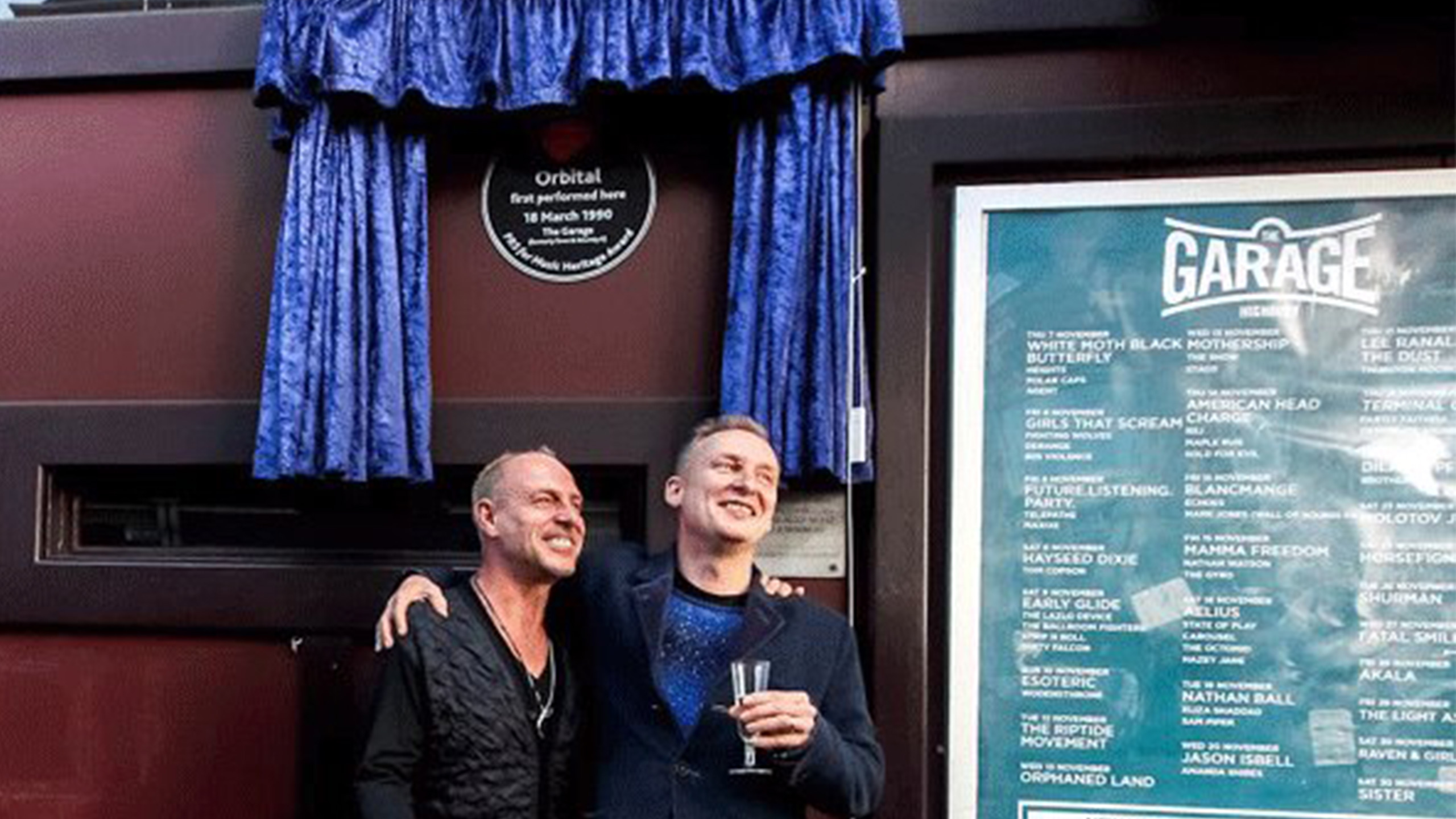 Phil and Paul Hartnoll of Orbital at The Garage in in Highbury, celebrating their Heritage Award