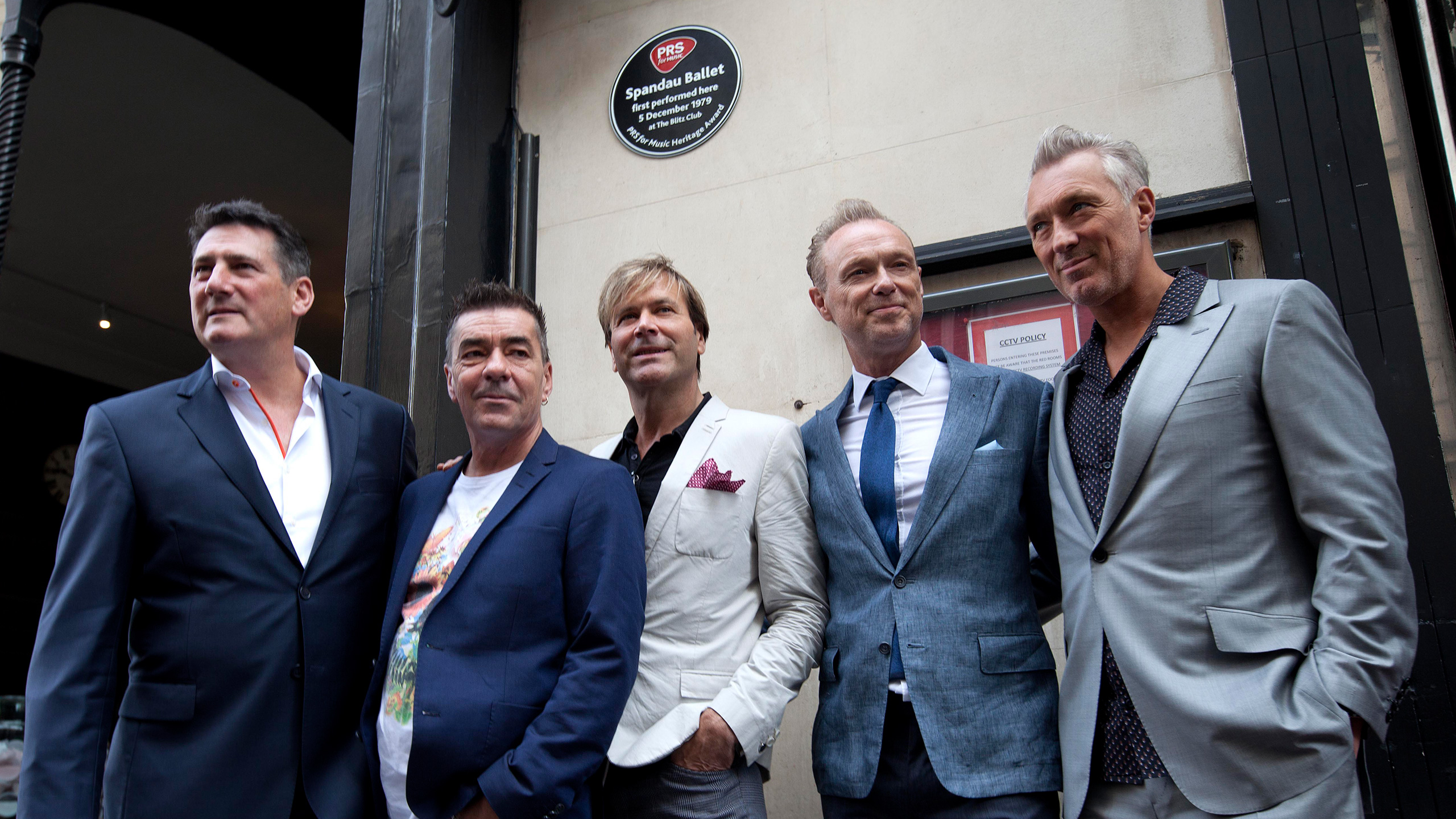 Spandau Ballet at The Blitz Club, London, celebrating their Heritage Award