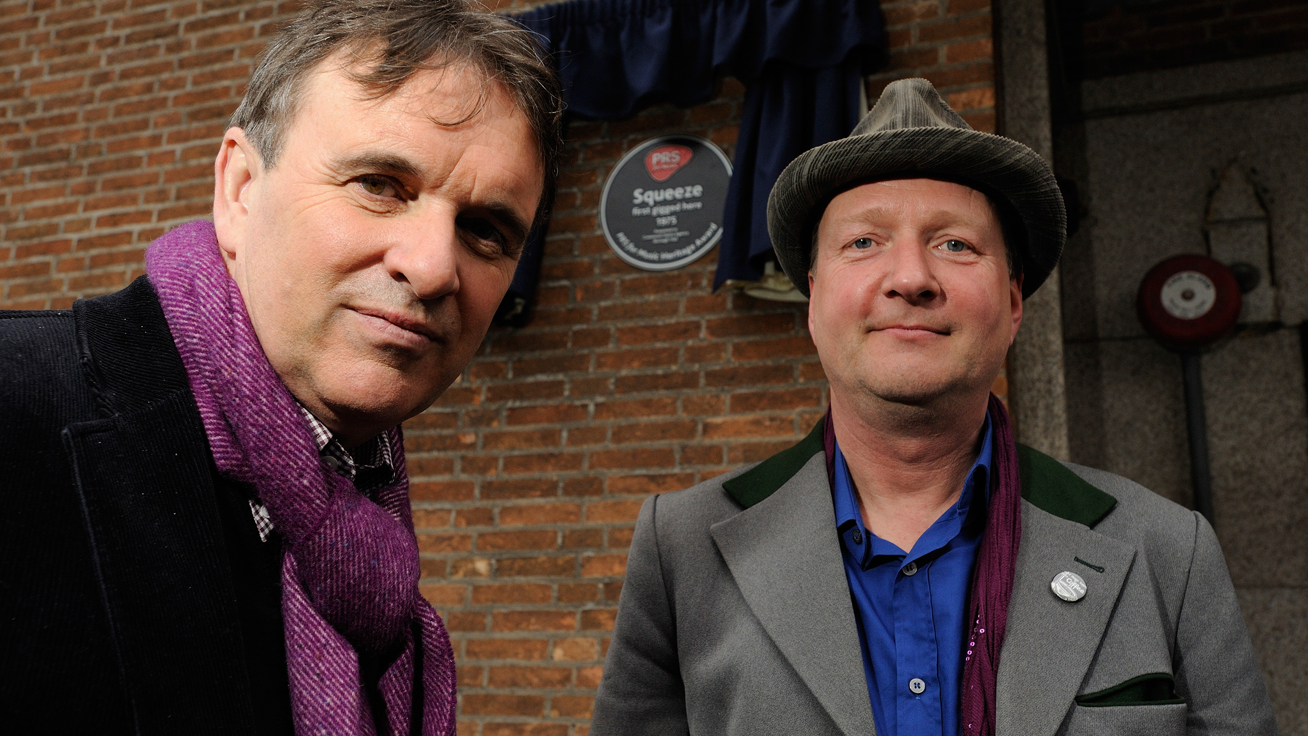 Squeeze's Chris Difford and  Glenn Tilbrook at Greenwich Dance Studio, celebrating their Heritage Award