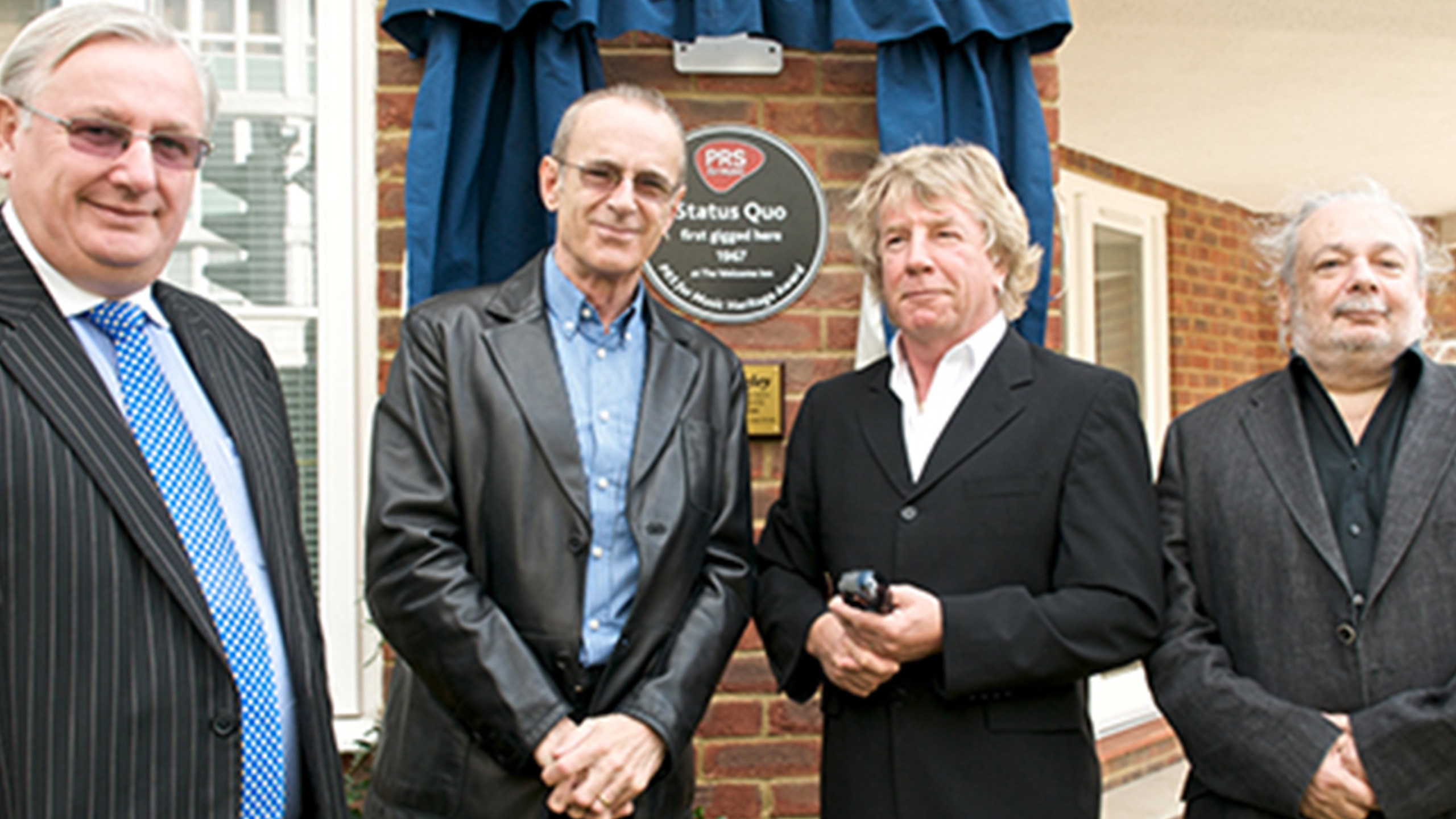 Status Quo at The Welcome Inn, Eltham, celebrating Heritage Award