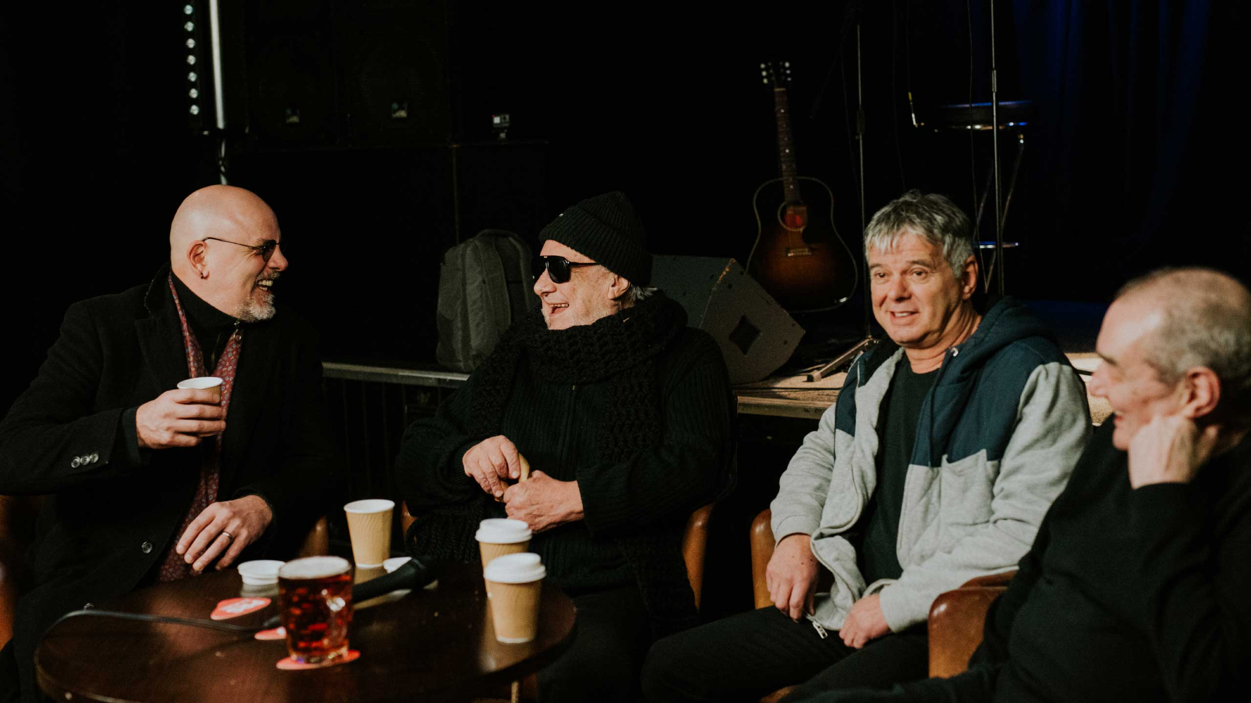 The Stranglers chatting at the Star In pub in Guildford