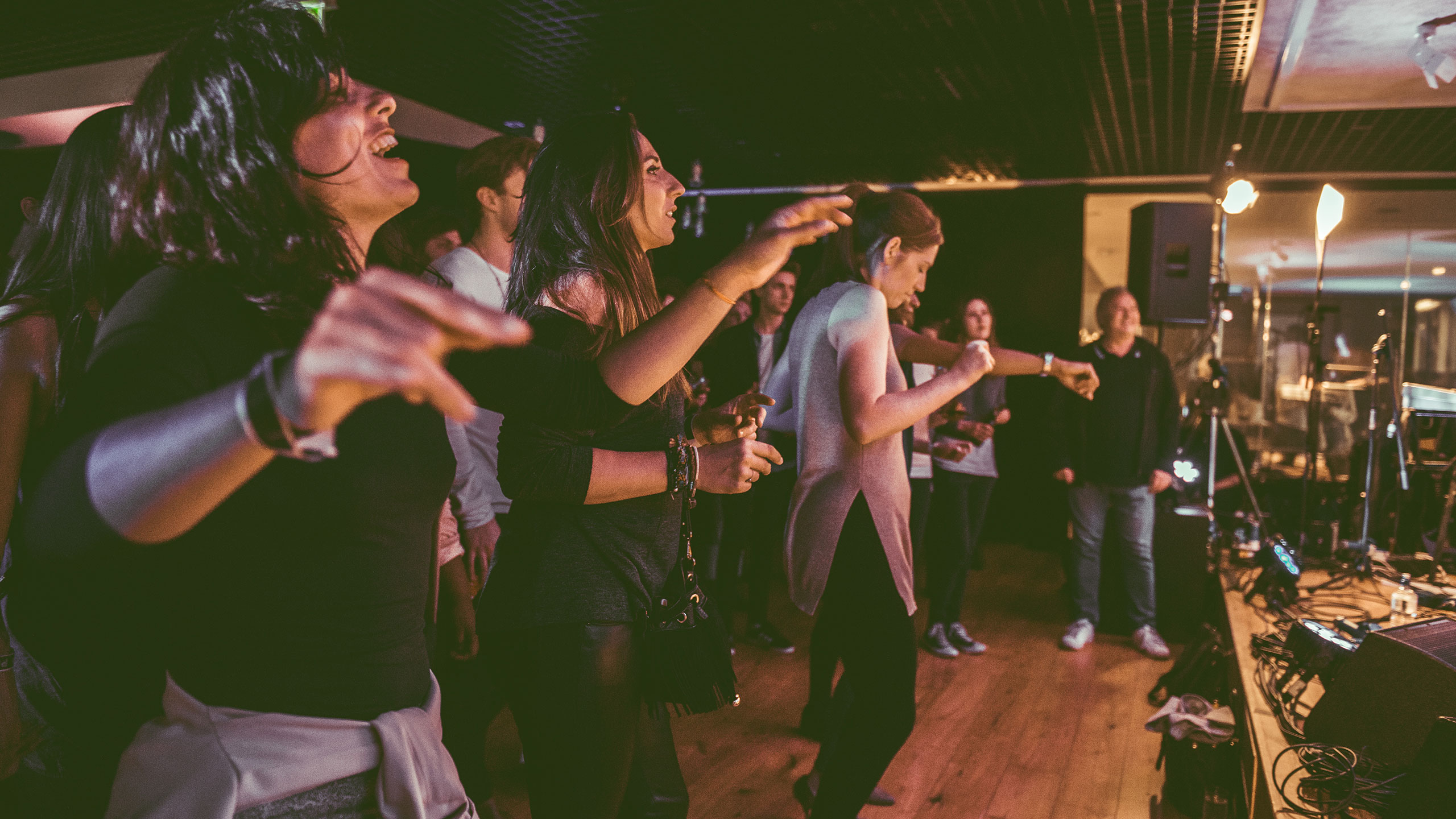 An audience dancing at a PRS Presents gig