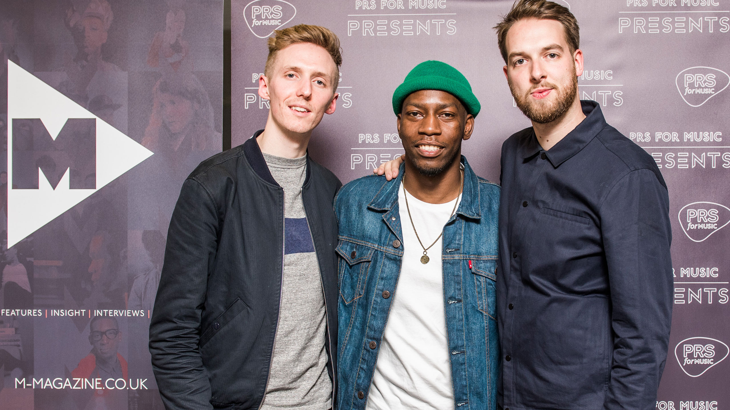 James Hatcher (Honne), Tiggs Da Author and Andy Clutterbuck (Honne) at PRS Presents