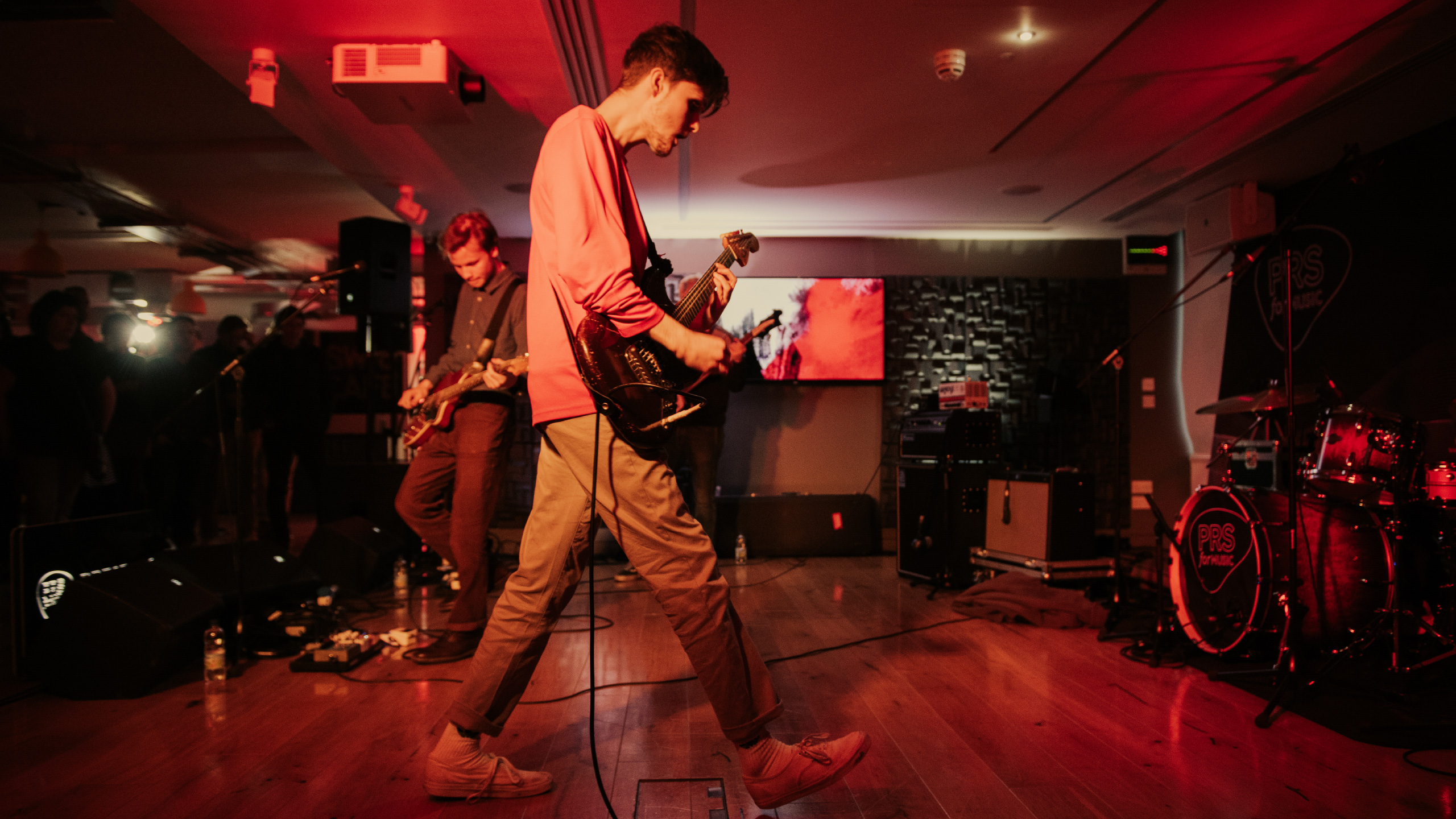 Black Midi on stage at the PRS Streatham office