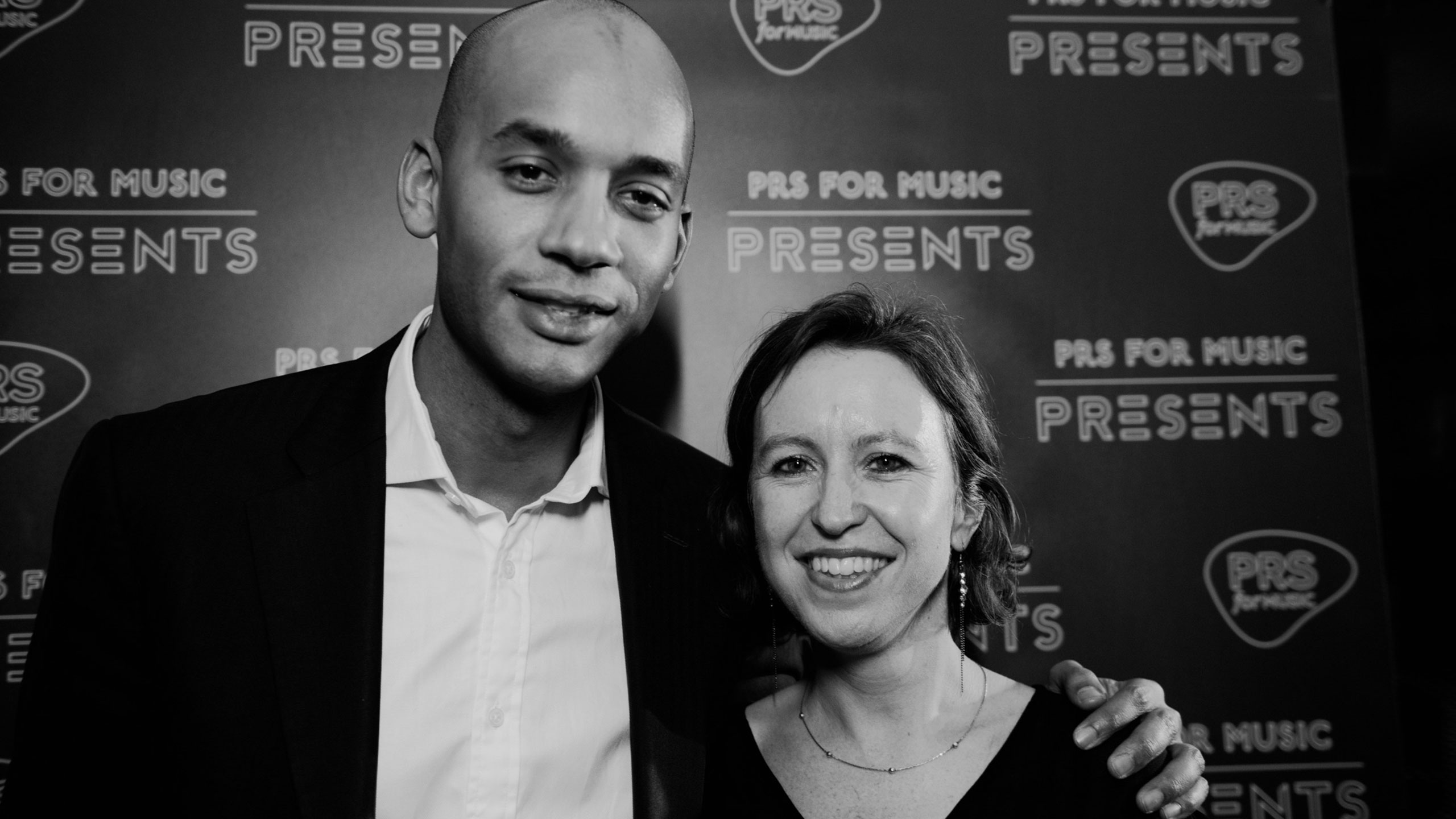 Chuka Umunna with a staff member at PRS for Music Presents