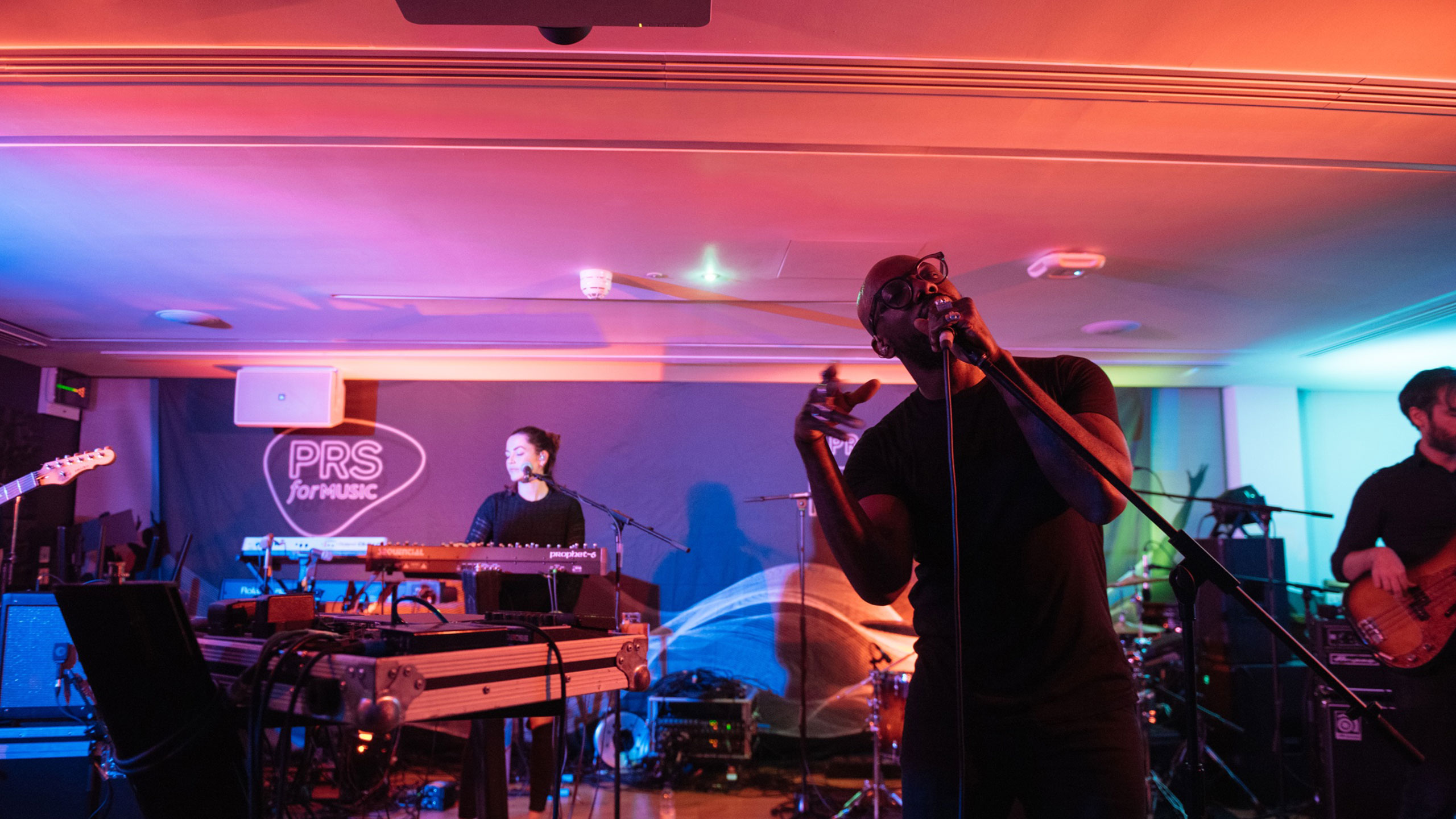Ghost Poet performs with his live band at PRS for Music Presents