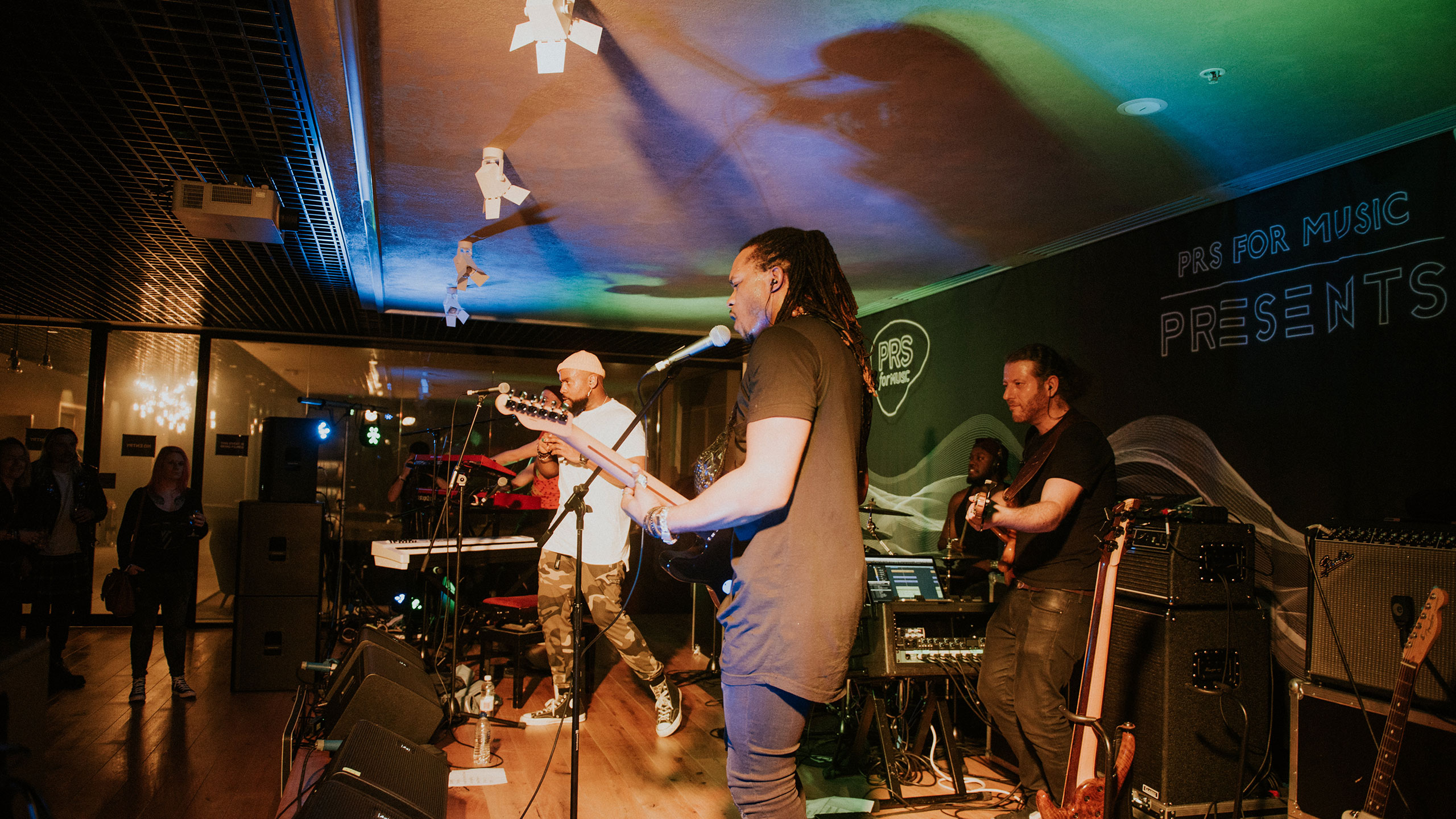 Jodie Abacus performs with his live band at PRS for Music Presents