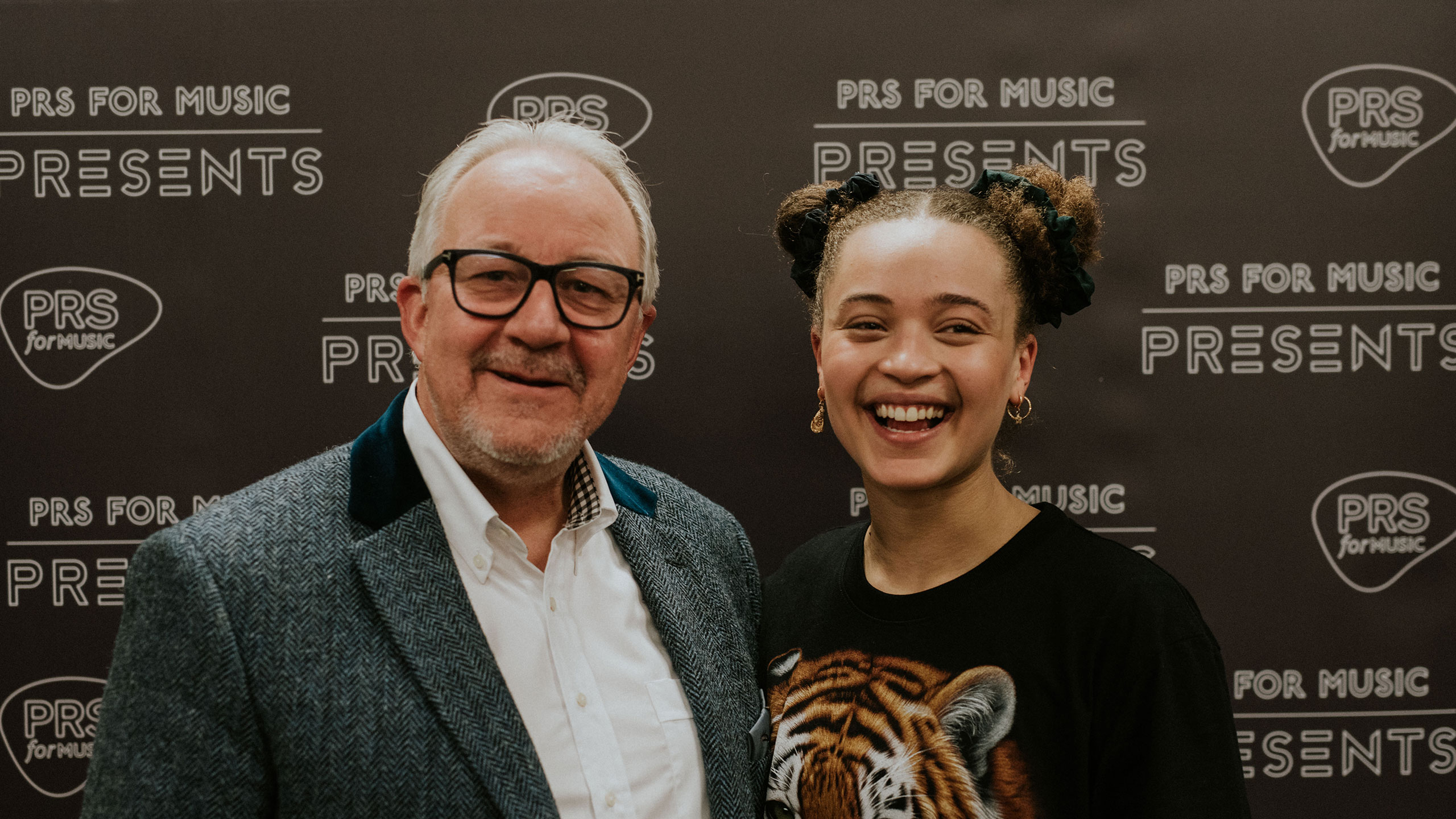 Connie Constance with PRS for Music chairman Nigel Elderton