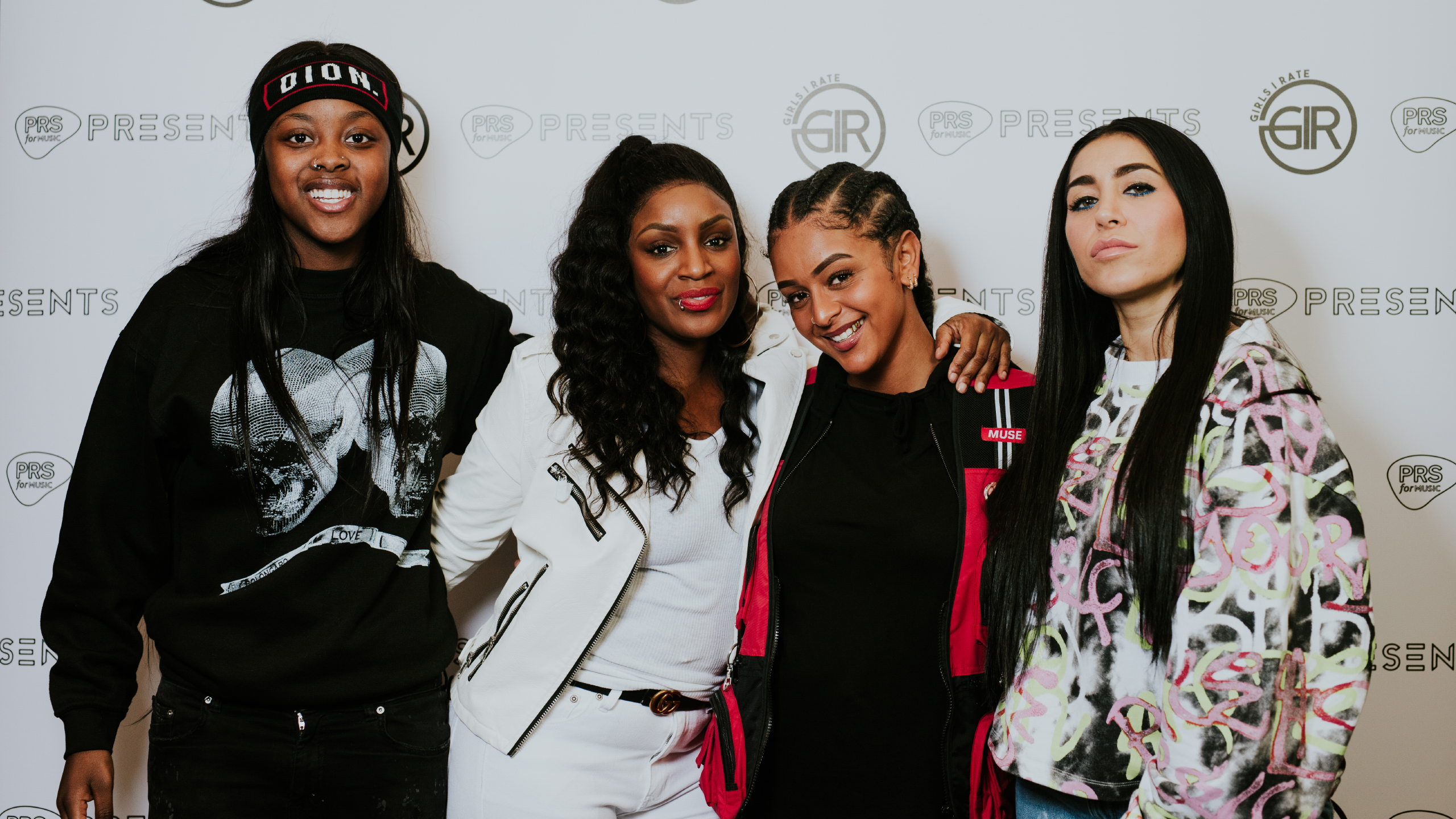 Amaria, Carla Marie Williams, Paigey Cakey and DJ Ellie Prohan group shot