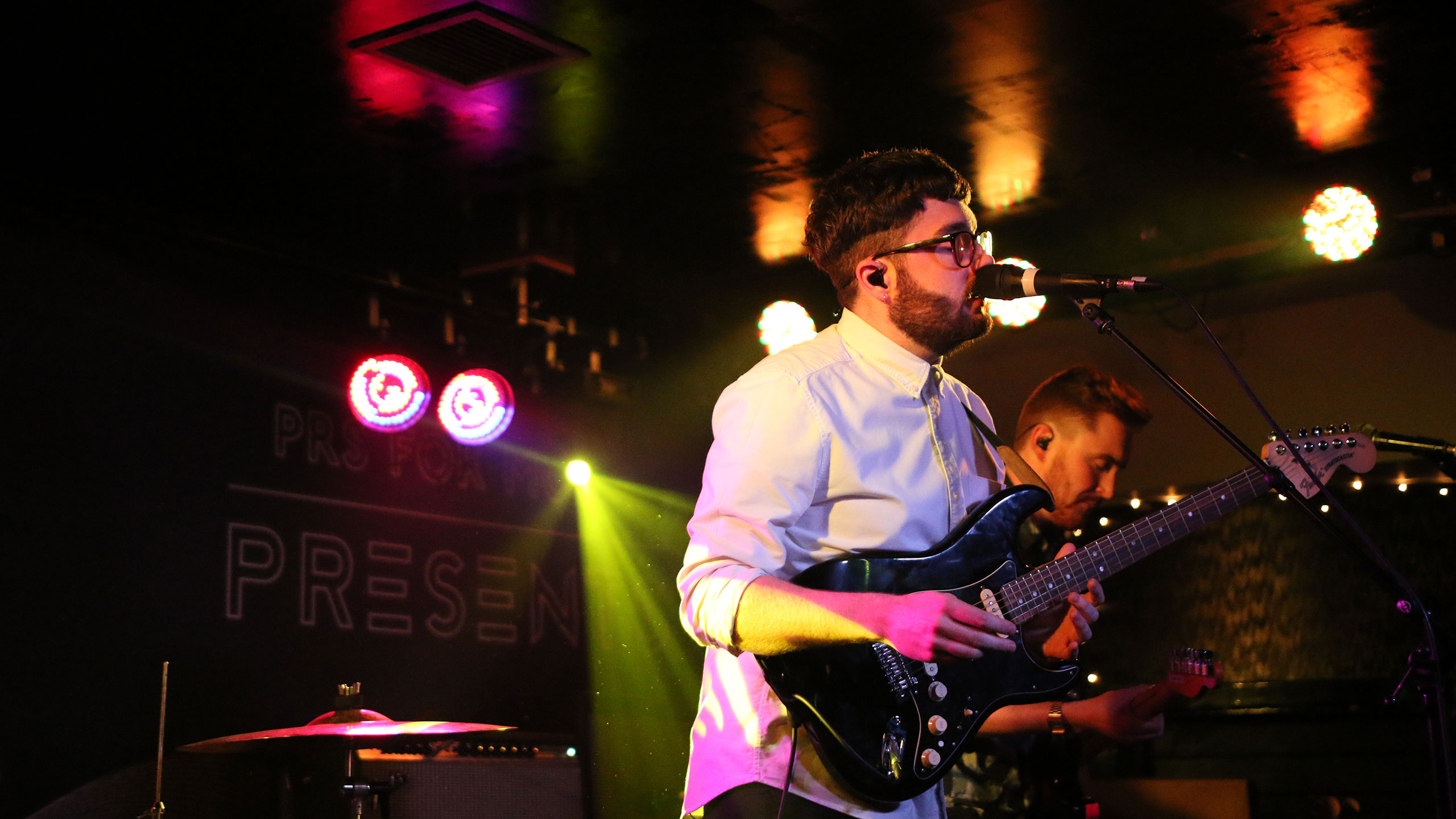 Fatherson frontman Ross Leighton performs at PRS for Music Presents