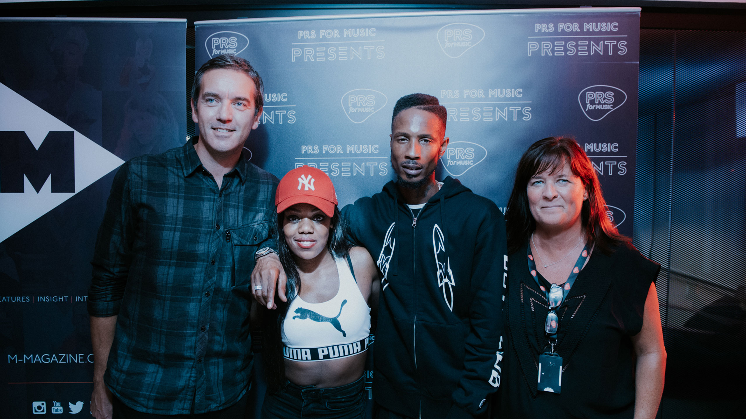 Paul Sims, Lady Leshurr, D Double E and Karen Buse at PRS for Music Presents
