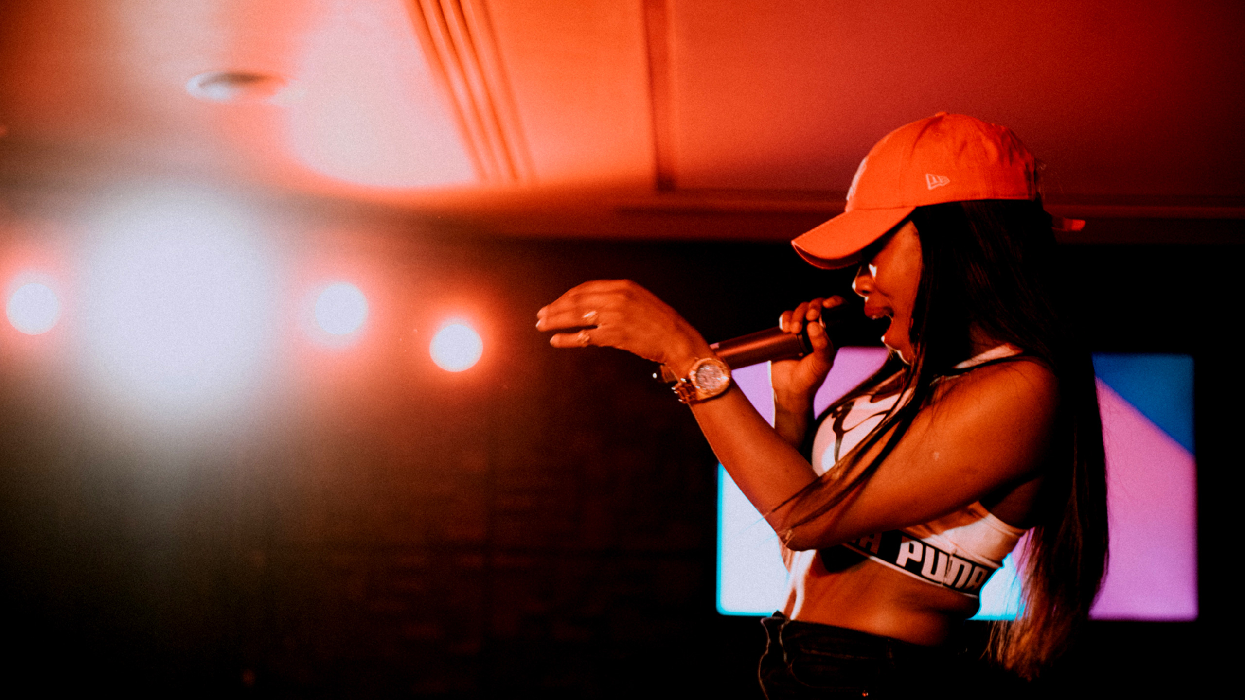 Lady Leshurr performing