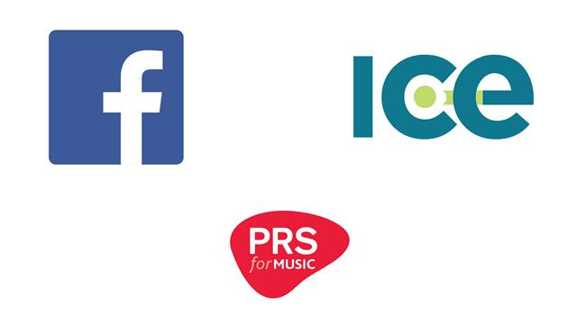 The Logos Of Facebook ICE And PRS For Music