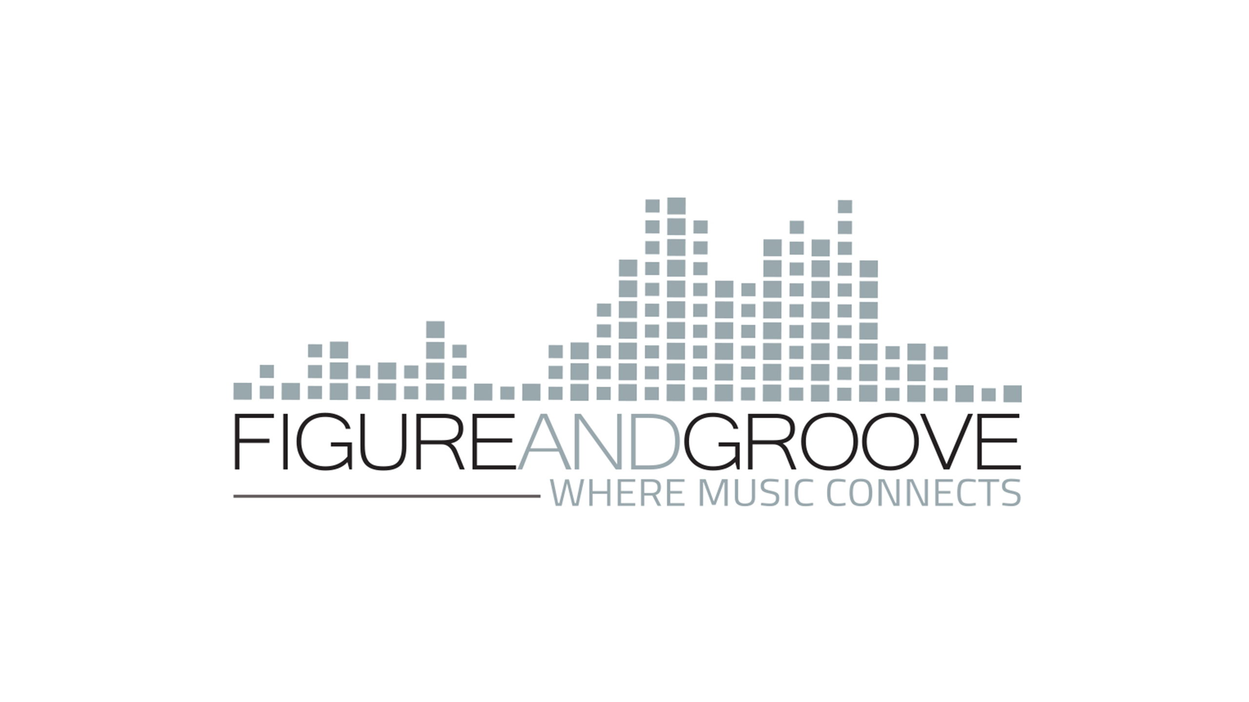 Figure and groove logo