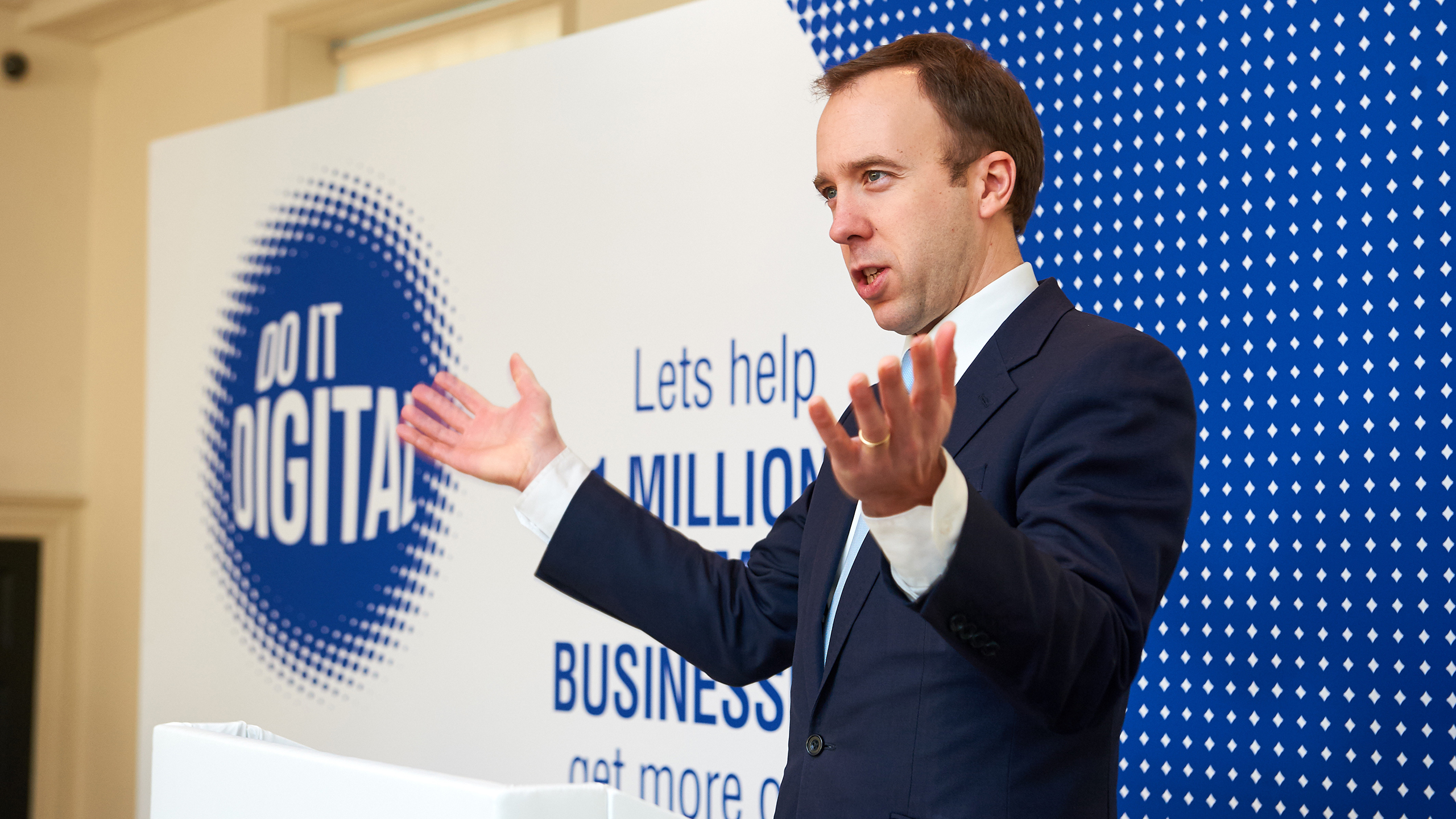 Matt Hancock MP speaking to the audience