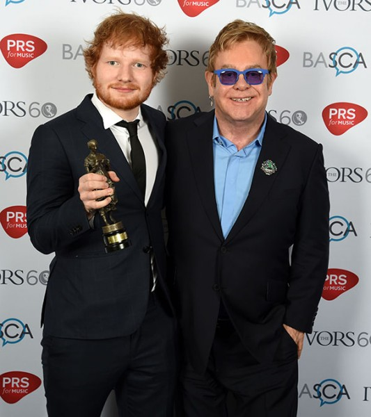 Ed Sheeran with his