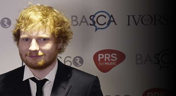 Ed Sheeran at The Ivors 2015