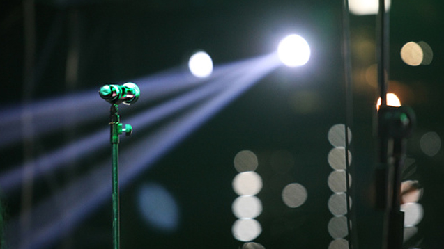 microphone stage lights
