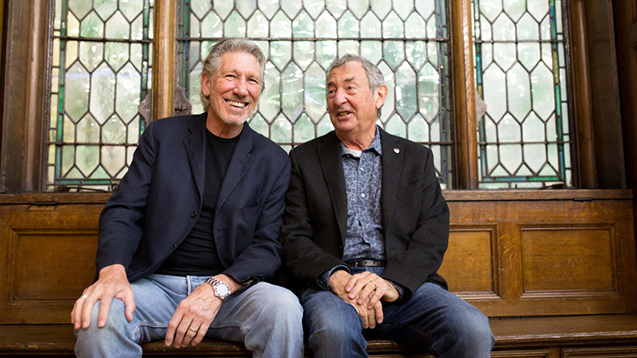 Pink Floyd Roger Waters and Nick Mason