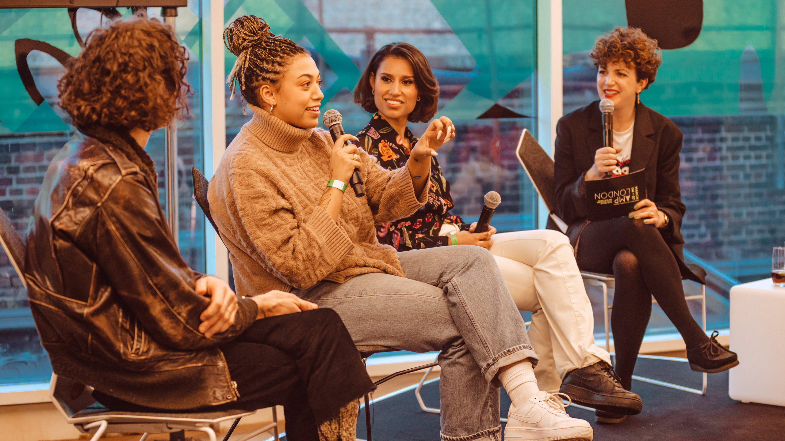 AMP London Panel with RAYE, Mahalia and Blaine Harrison hosted by Annie Mac