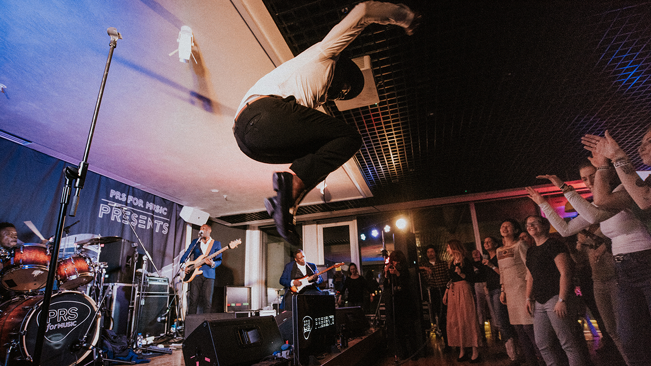 Congolese-Belgian rapper Baloji jumps off stage mid-performance at PRS Presents