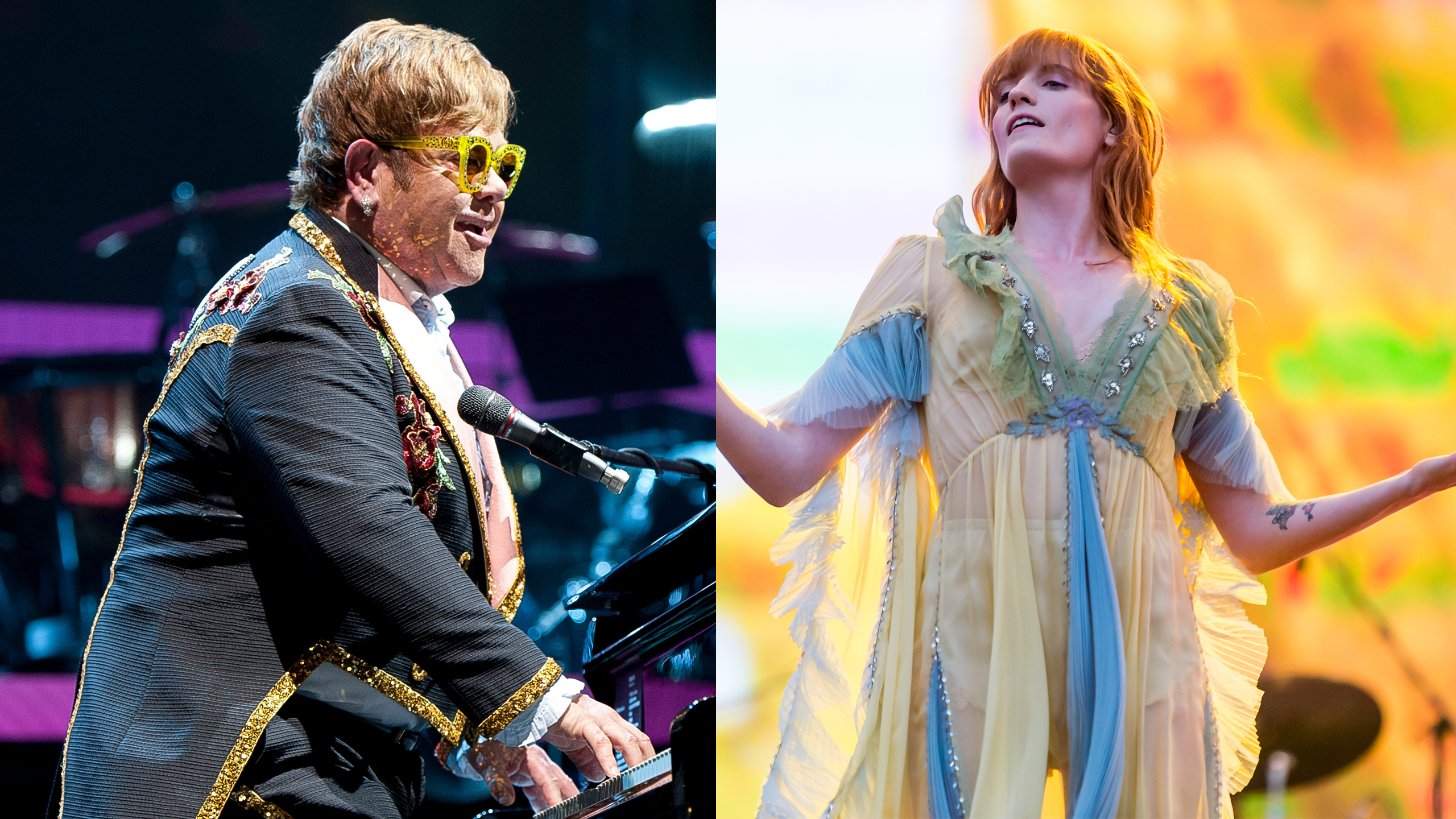 Elton John in concert; Florence and the Machine in concert ©Shutterstock