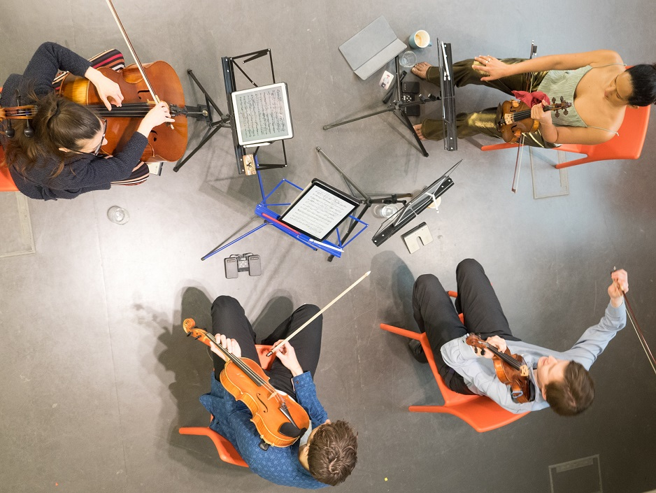 Above: Ligeti Quartet ©David Hones