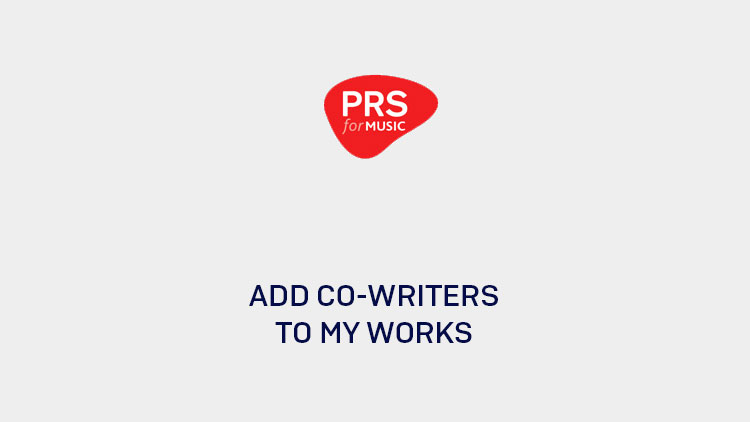 How to add co-writers to my works