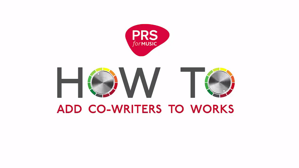 How to add co-writers to works - video cover
