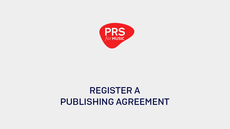How to register a publishing agreement