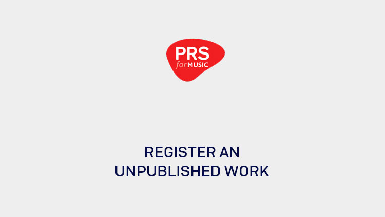 How to register an unpublished work