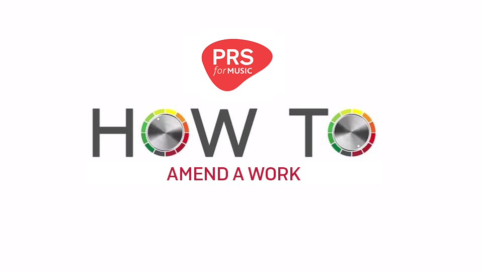 How to amend a work
