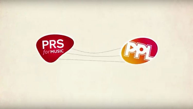 PRS for Music and PPL logos
