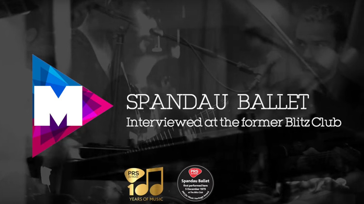 Text reads: Spandau Ballet interviewed at the former Blitz Club